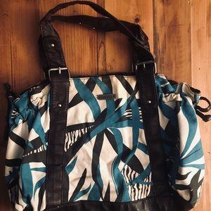 Kirra turquoise and brown shoulder bag